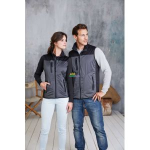 KA418 - LADIES' TRI-COLOUR SOFTSHELL BODYWARMER