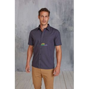 KA543 - MEN'S SHORT SLEEVE EASY CARE COTTON POPLIN SHIRT