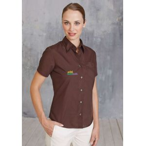KA548 - JUDITH - LADIES' SHORT SLEEVE EASY CARE POLYCOTTON POPLIN SHIRT